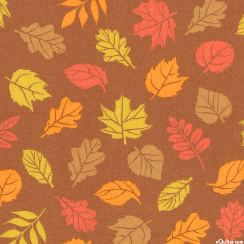 Cozy Outdoors - Changing Leaves - Copper - FLANNEL