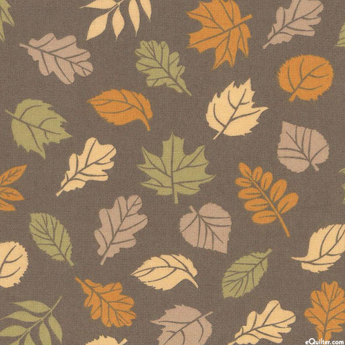 Cozy Outdoors - Changing Leaves - Fog Gray - FLANNEL