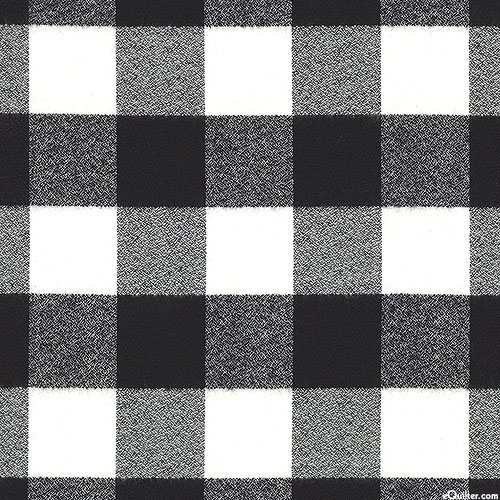 Mammoth - Big Square Yarn-Dye - Black/White - FLANNEL