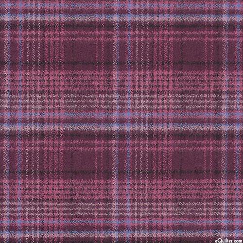 Mammoth - Intertwined Yarn-Dye - Plum - ORGANIC FLANNEL