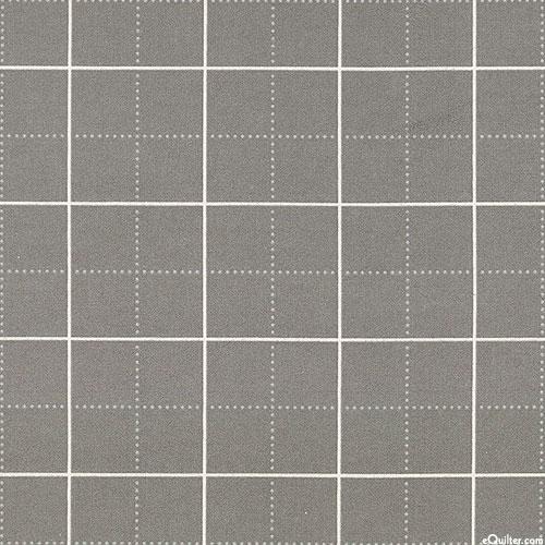 "Framework - Quilter's Design Grid - Gray - 42"" FLANNEL"