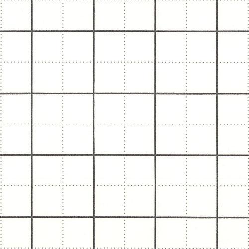 "Framework - Quilter's Design Grid - White - 42"" FLANNEL"