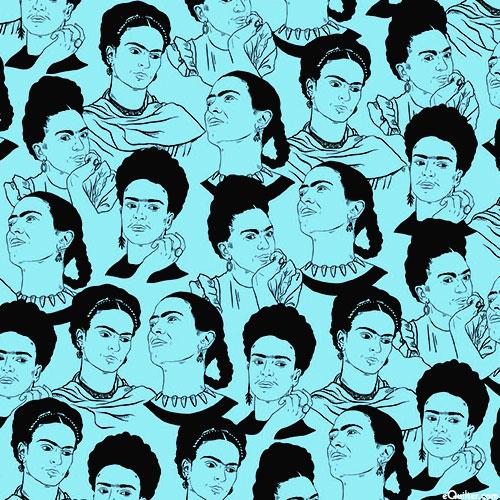 Frida Kahlo - Sketchbook Portraits - Aqua