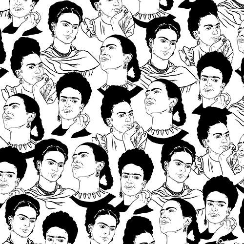 Frida Kahlo - Sketchbook Portraits - White
