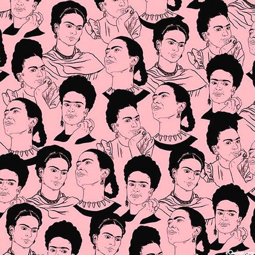 Frida Kahlo - Sketchbook Portraits - Pastel Pink