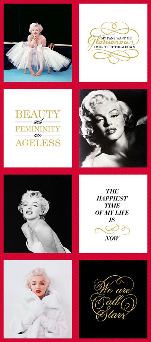 "Marilyn Monroe - Glamorous Girl - 24"" PANEL - DIGITAL PRINT"
