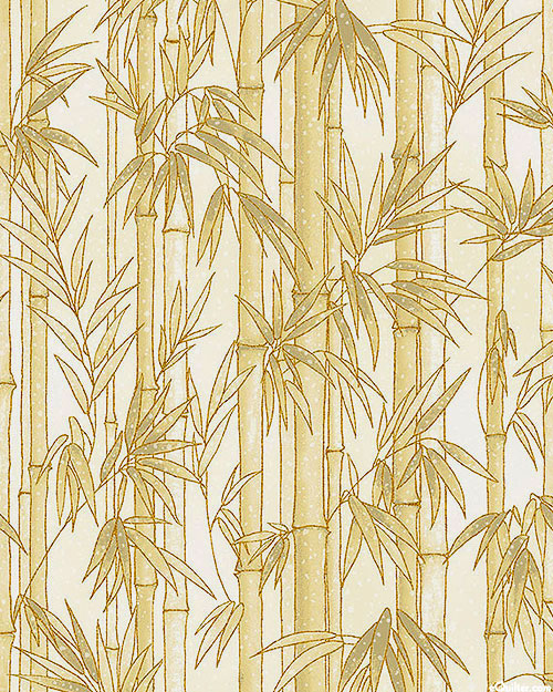 Imperial Collection - Bamboo Forest - Almond/Gold