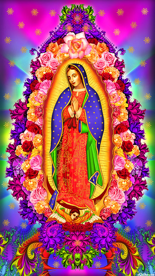 "Inner Faith - Rose of Guadalupe - 24"" x 44"" PANEL - DIGITAL"