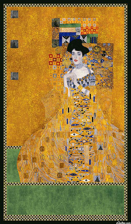 """Gustav Klimt - Adele - Amber/Gold - 24"""" x 44"""" PANEL"""