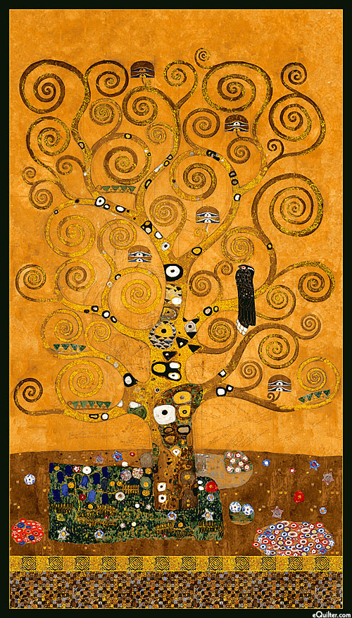 Equilter Gustav Klimt Tree Of Life Amber Gold 24 Quot X