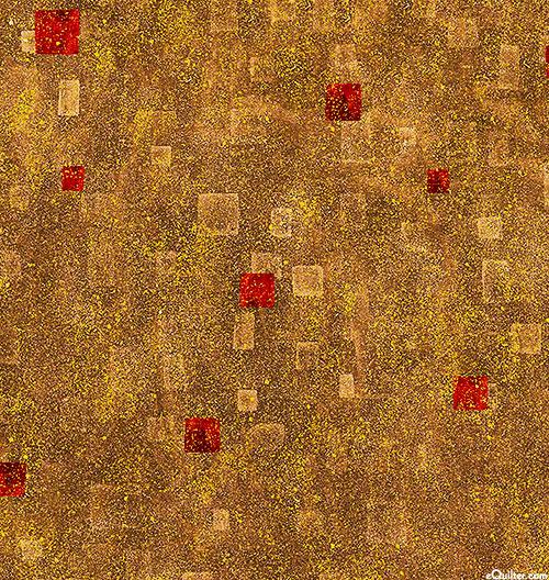 Gustav Klimt - Geometric Atmosphere - Pecan Brown/Gold