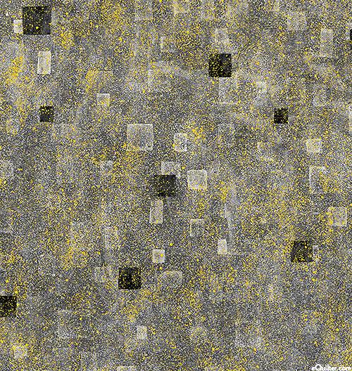 Gustav Klimt - Geometric Atmosphere - Pewter Gray/Gold