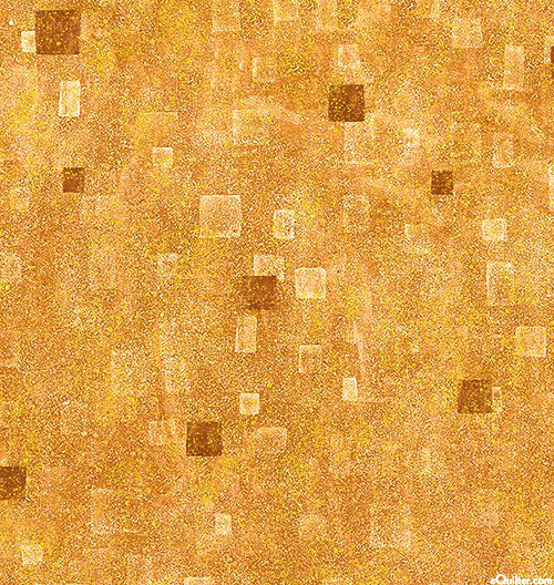 Gustav Klimt - Geometric Atmosphere - Butterscotch/Gold