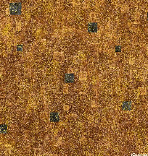 Gustav Klimt - Geometric Atmosphere - Maple Brown/Gold