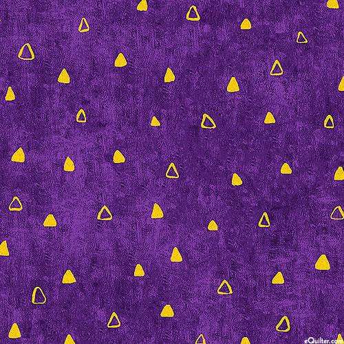 Gustav Klimt - Triangle Highlights - Amethyst Purple/Gold