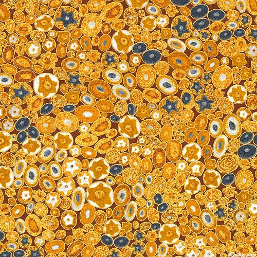 Gustav Klimt - Venetian Glass - Amber/Gold