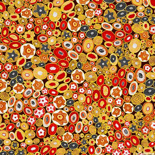 Gustav Klimt - Venetian Glass - Scarlet Red/Gold