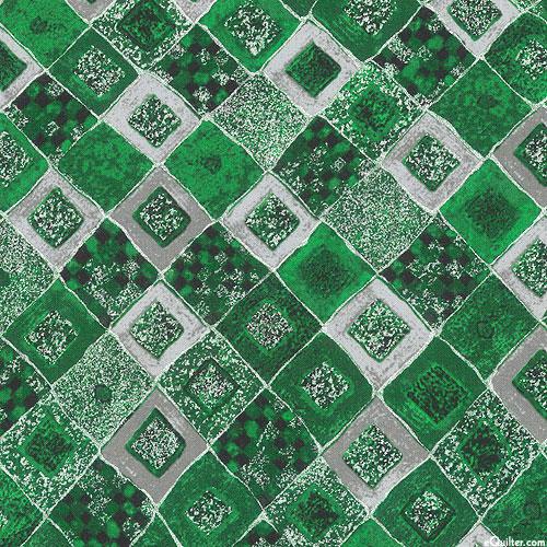 Gustav Klimt - Gilded Tiles - Emerald Green/Silver