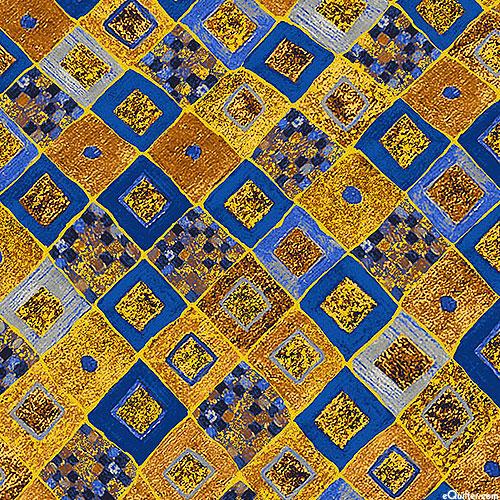 Gustav Klimt - Gilded Tiles - Cobalt Blue/Gold