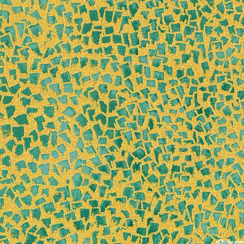 Gustav Klimt - Gold Flecks - Jade Green/Gold