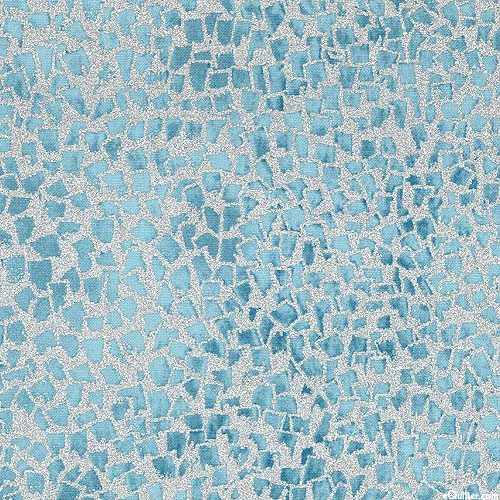Gustav Klimt - Gold Flecks - Mist Blue/Silver