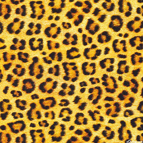 "Animal Kingdom - Leopard Spots Jersey KNIT - Maize - 59"" WIDE"