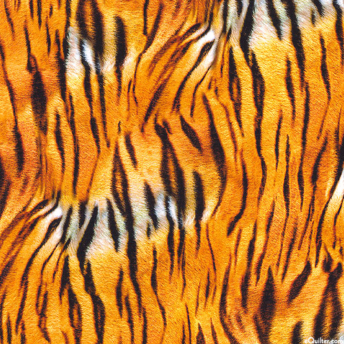"Animal Kingdom - Tiger Stripes Jersey KNIT - Orange - 59"" WIDE"