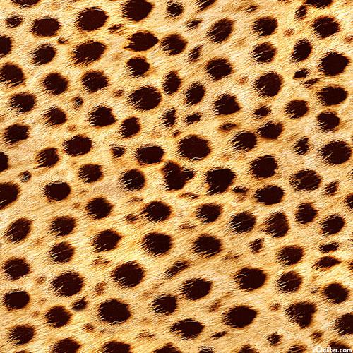 """Animal Kingdom - Cheetah Spots Jersey KNIT - Tan - 59"""" WIDE"""