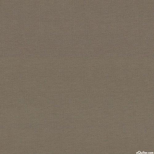 "Laguna Cotton Knit Jersey - 58"" - Solid Taupe (Khaki Brown)"