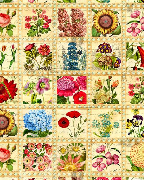 Library of Rarities - Garden Notes - Cream - DIGITAL