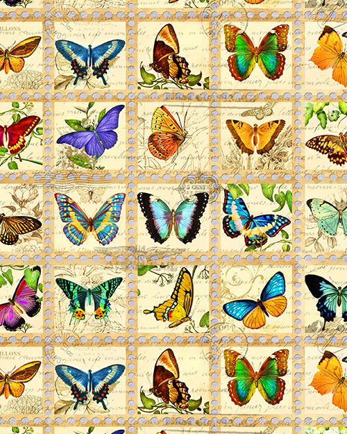 Library of Rarities - Butterfly Notes - Cream - DIGITAL