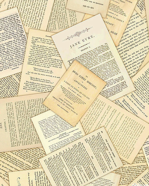 Library of Rarities - Precious Pages - Parchment Beige - DIGITAL