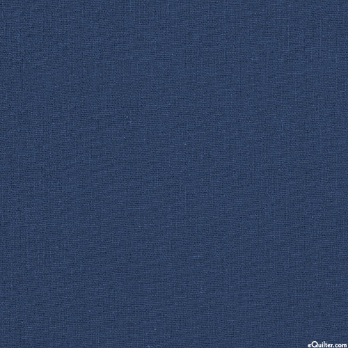Essex Solid - Midnight Blue - COTTON/LINEN