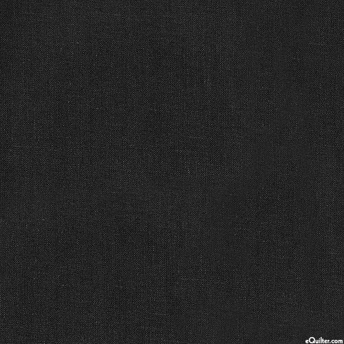 Essex Solid - Black - COTTON/LINEN