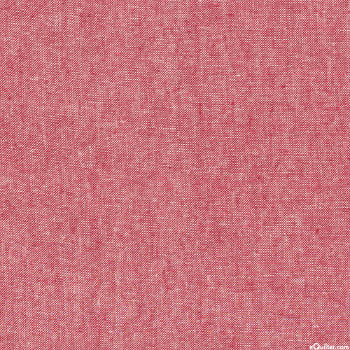Essex Yarn-Dye Chambray - Cranberry Red - COTTON/LINEN