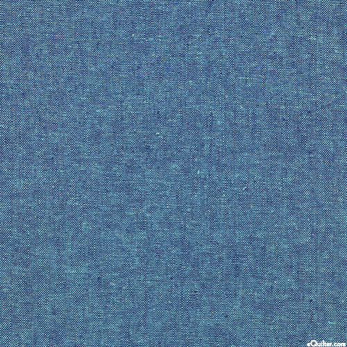 Essex Yarn-Dye Chambray - Lagoon Blue - COTTON/LINEN