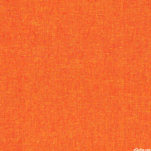 Essex Yarn-Dye Chambray - Carrot Orange - COTTON/LINEN