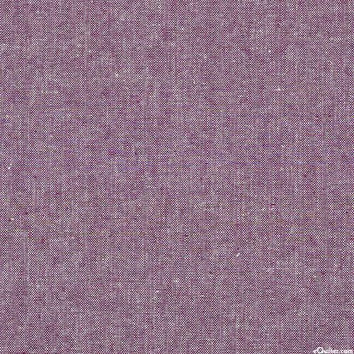 Essex Yarn-Dye Chambray - Eggplant Purple - COTTON/LINEN