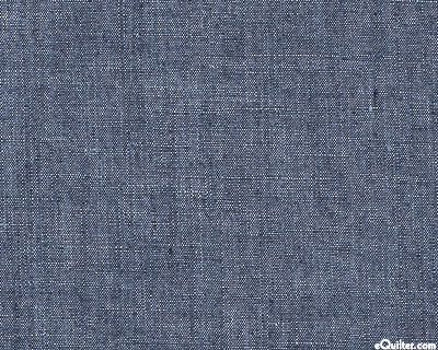 "Cotton Linen Chambray - Navy Wash - 57"" Wide - COTTON/LINEN"