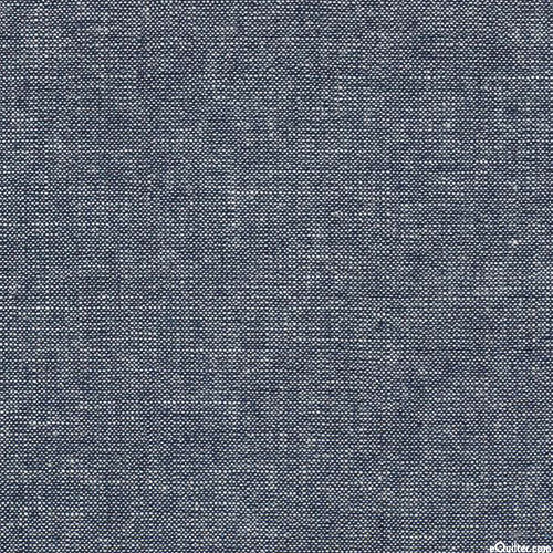 Essex Metallic Yarn-Dye - Indigo Blue/Silver - COTTON/LINEN