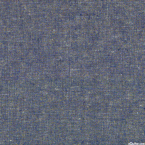 Essex Metallic Yarn-Dye - Navy/Gold - COTTON/LINEN