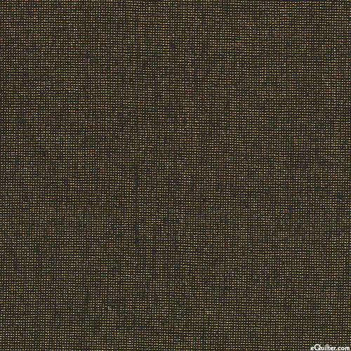Essex Metallic Yarn-Dye - Jet Black/Gold - COTTON/LINEN