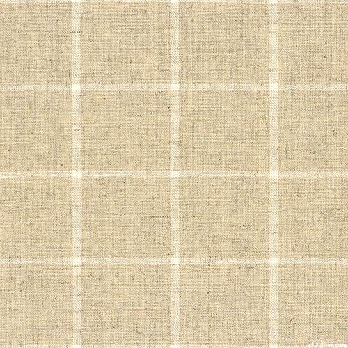 Essex Classic Yarn-Dye - Plaid Large - Sand - COTTON/LINEN