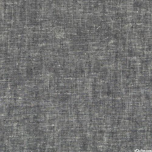 """Brussels Washer Yarn-Dye - Black - LINEN/RAYON - 52"""" WIDE"""