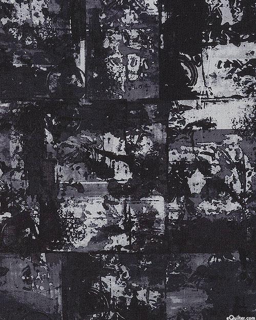 Warehouse District ESSEX - Print Table - Charcoal - Cotton Linen