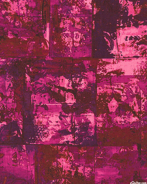 Warehouse District ESSEX - Print Table - Berry - Cotton Linen