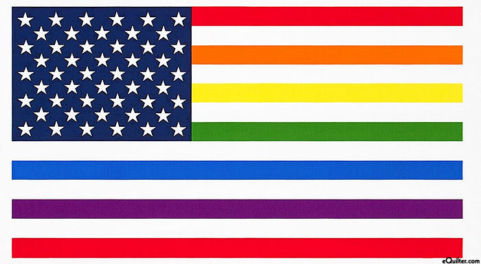 "Pride - Rainbow Flag - White - 24"" x 44"" PANEL"