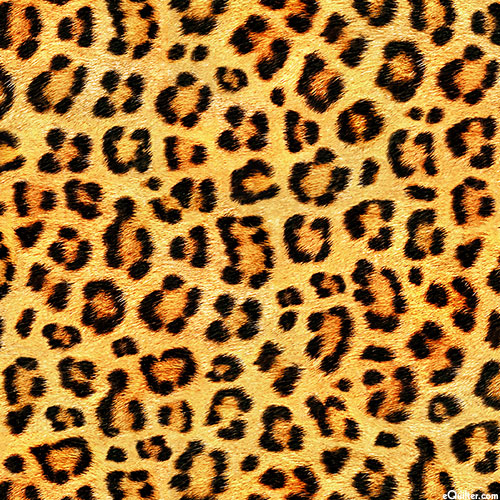 "Animal Kingdom - Leopard Spots - Maize - 108"" QUILT BACKING"