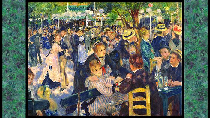 """Renoir - Dance at Le moulin de la Galette - 24"""" x 44"""" PANEL"""