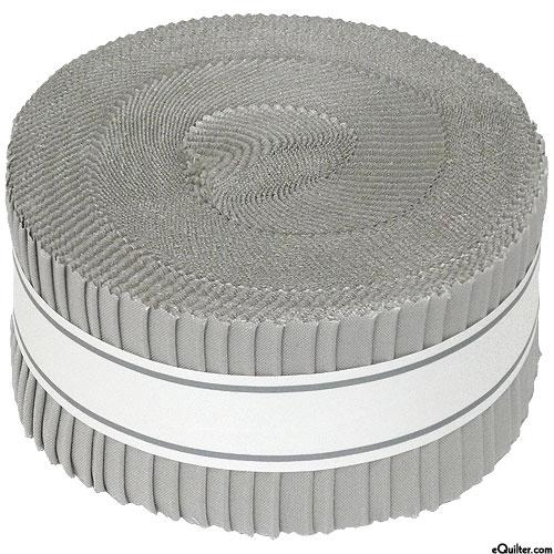 """Kona Cotton Solids - Ash Gray - 2 1/2"""" Strips"""
